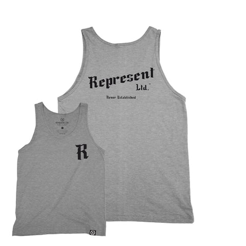 Black Baron Heather Gray Tank Top