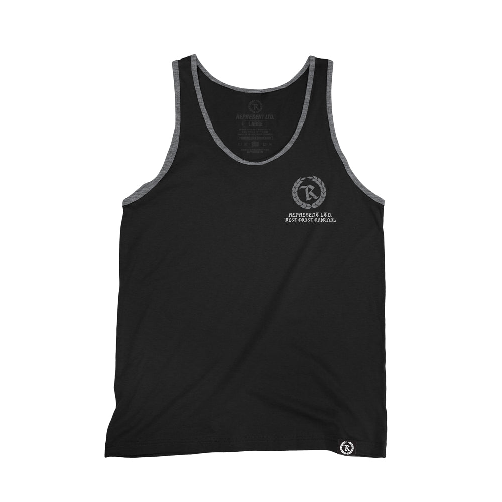 West Coast Original Contrast Trim Tank Top [BLACK GRAY TRIM]