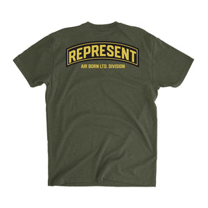 Air Born Most Hight Division Tee [MILITARY GREEN]