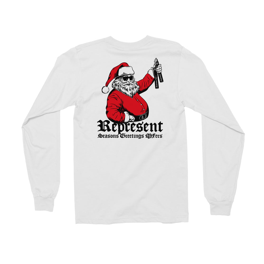 Seasons Greetings MFers Long Sleeve Tee [WHITE]