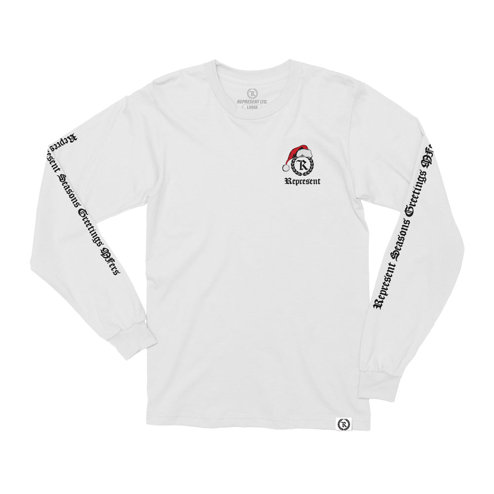 Santa Clause Nunchuck Ninja Xmas Long Sleeve Tee [WHITE] LIMITED EDITION