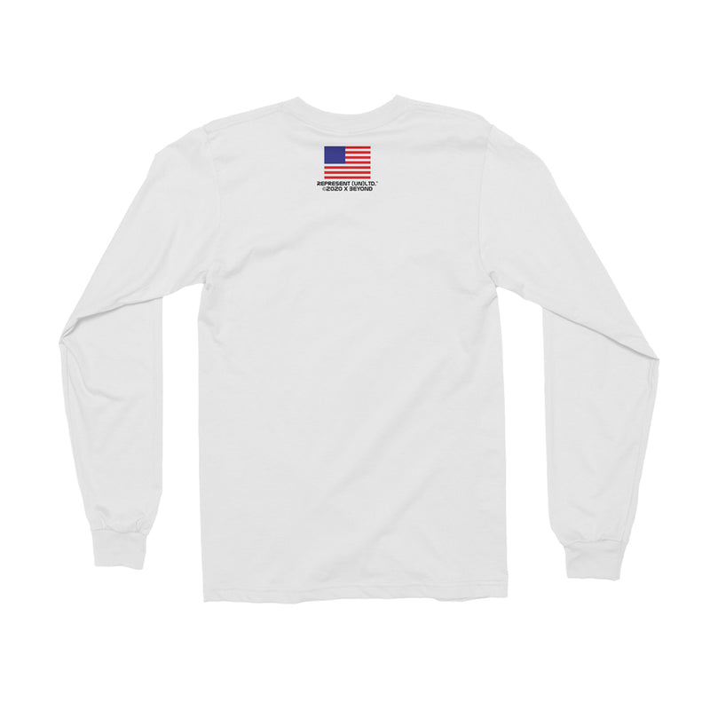Just Left Houston Space Long Sleeve Tee [WHITE]