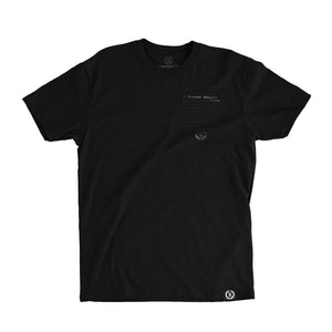 Original Classic All Over Blacked Out Tee [BLACK X BLACK]