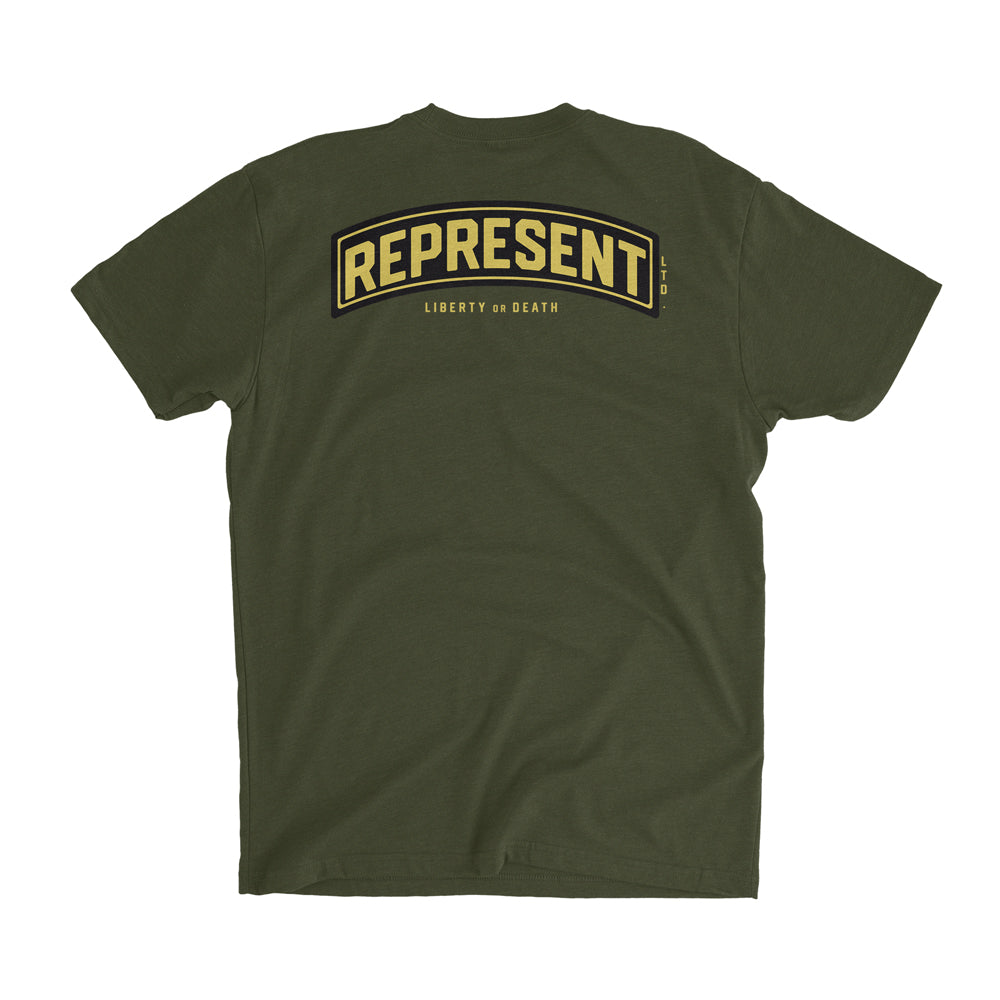 Frontline Soldiers Liberty or Death Tee [MILITARY GREEN]