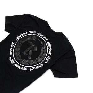 Never Established Patch Tee [BLACK] BIG BLACK