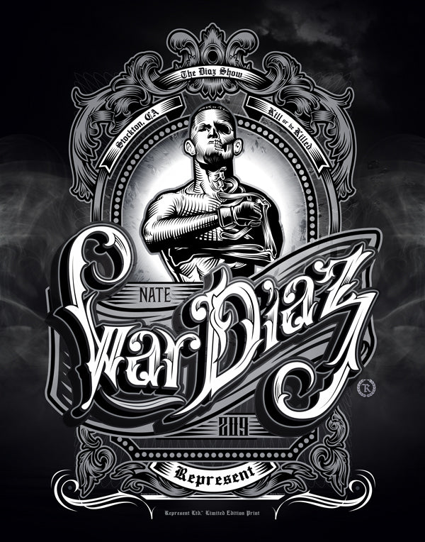 Nate Diaz 'Real Skin-to-Bone' Poster 22x28