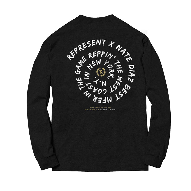 Nate Diaz BMF Fight Capsule Crewneck Sweatshirt [BLACK]