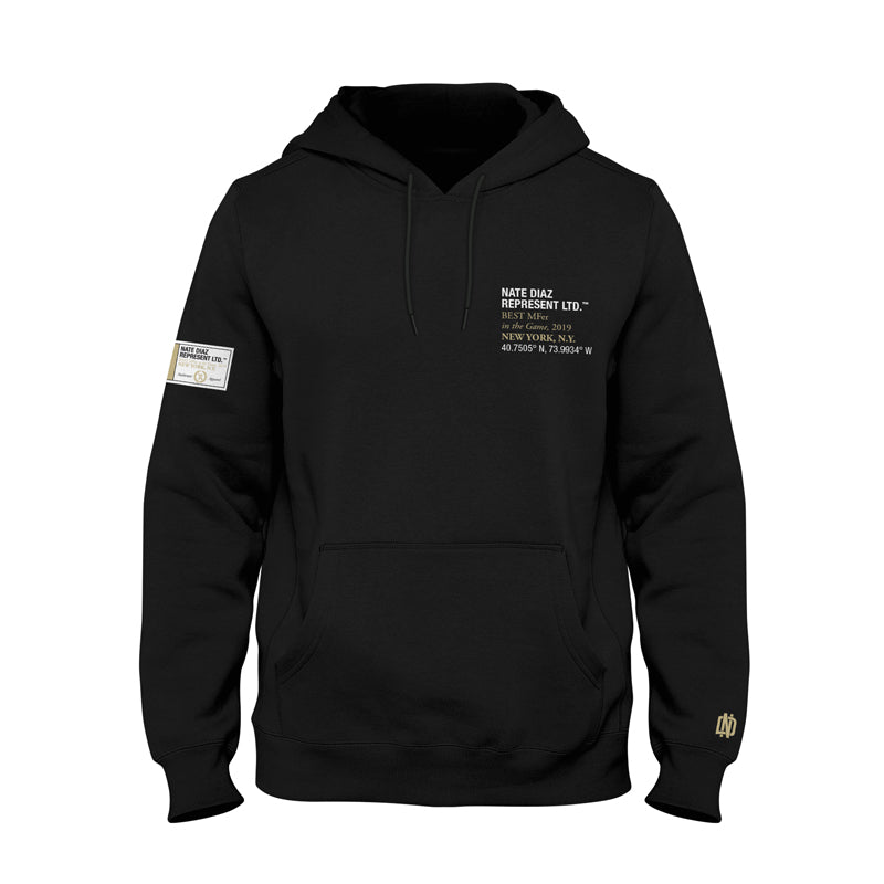 Nate Diaz BMF Fight Capsule Heavy Pullover Hoodie [BLACK]
