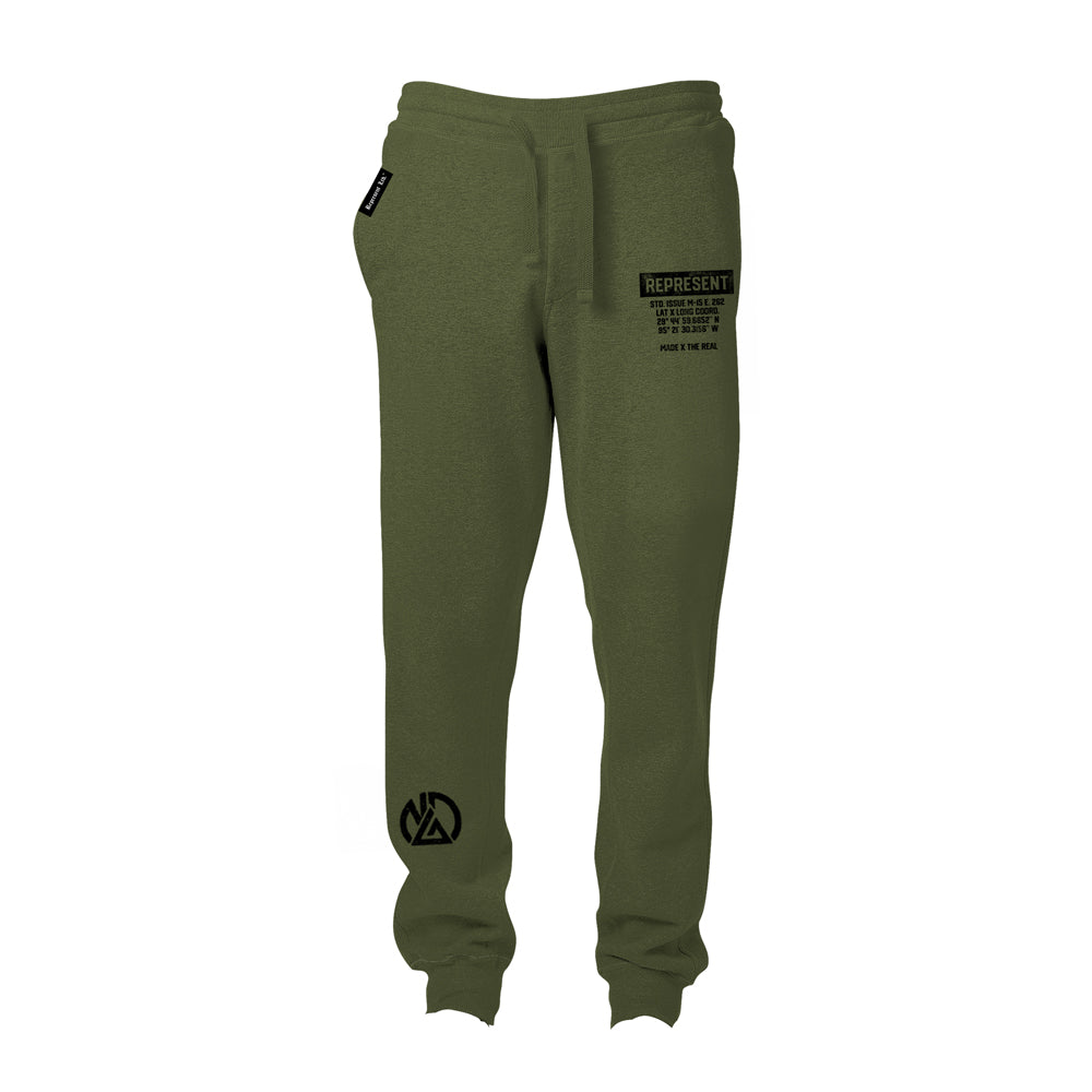 WAR DIAZ Camp Stockton Training Gear Joggers [MILITARY GREEN] NATE DIAZ UFC 262 CAMP EDITION