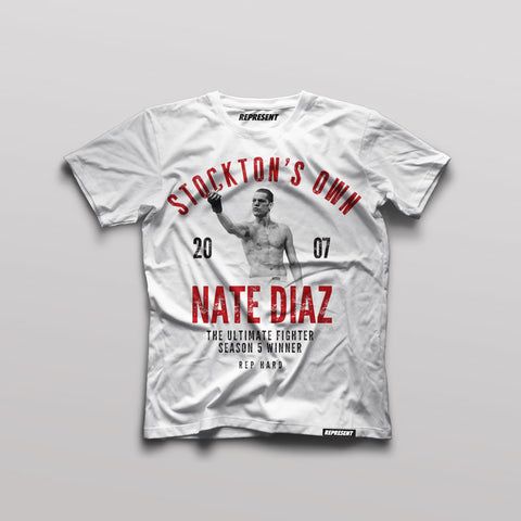 Nate Diaz Stockton's Own Vintage Tee (WHITE)