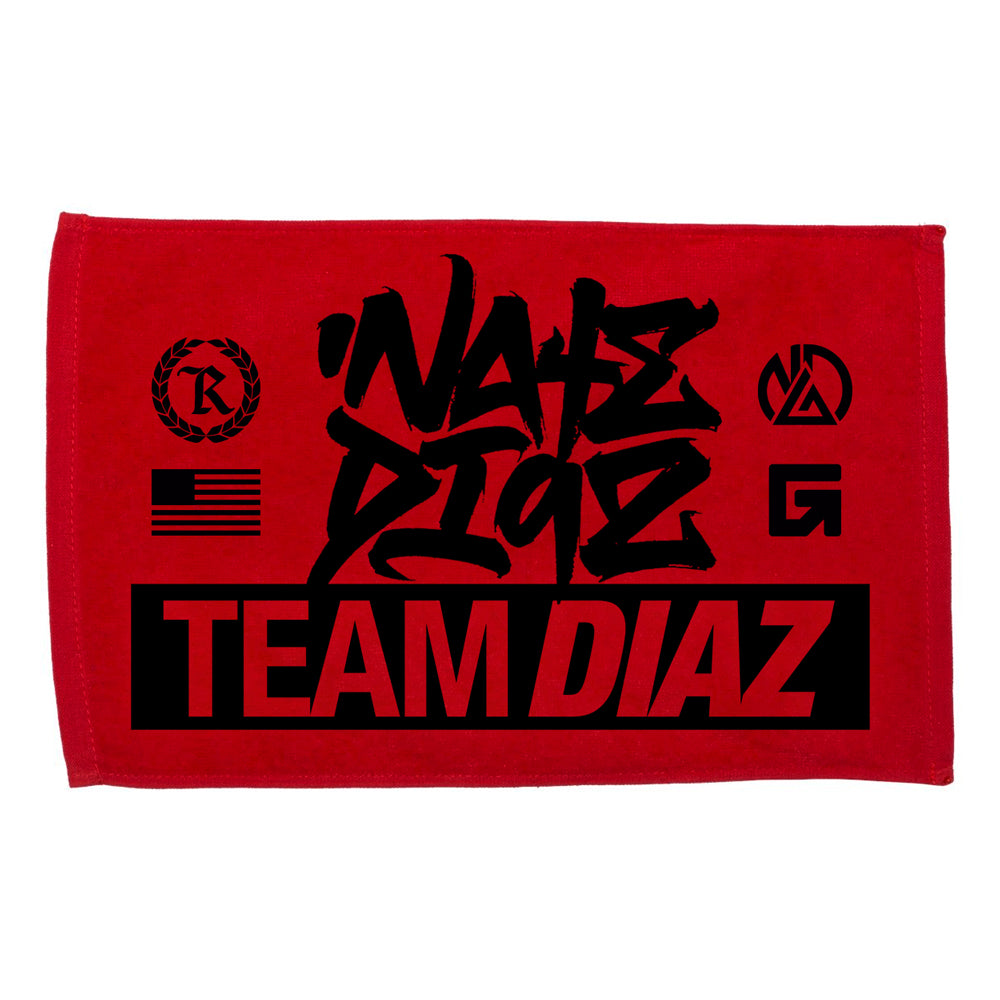 Nate Diaz Team Diaz 263 Rally Towel [BLACK] OFFICIAL UFC 263 FIGHT EDITION