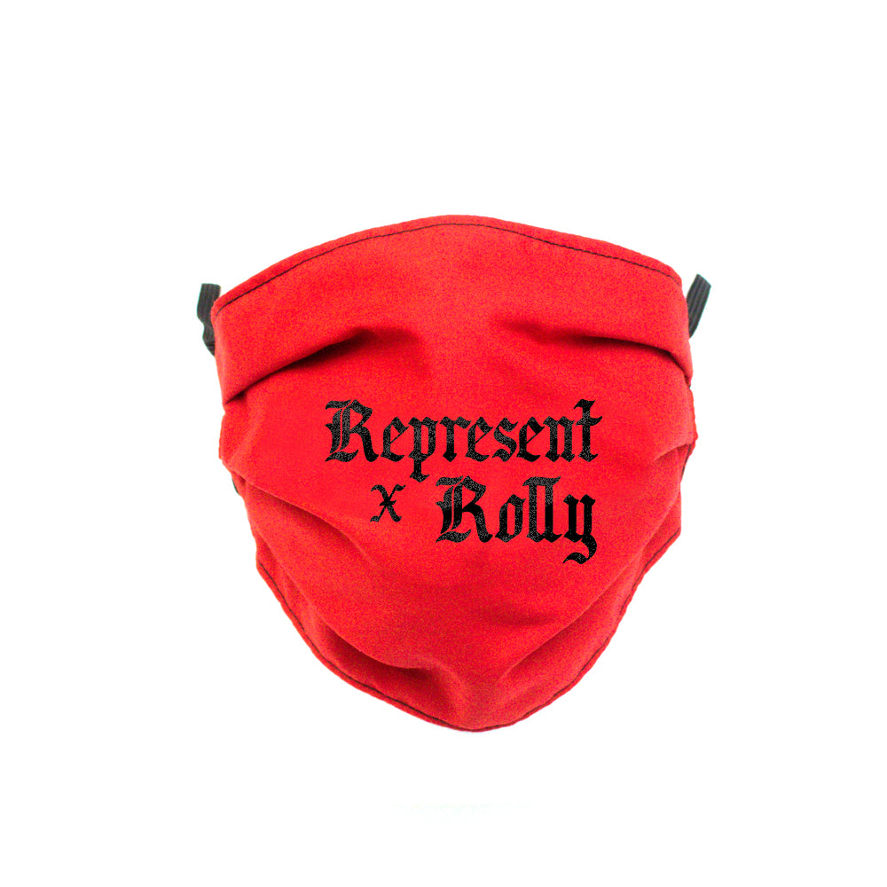 Rolly Rolando Romero Aug. 15th Official Full Front Cloth Sanitary Mask [RED]