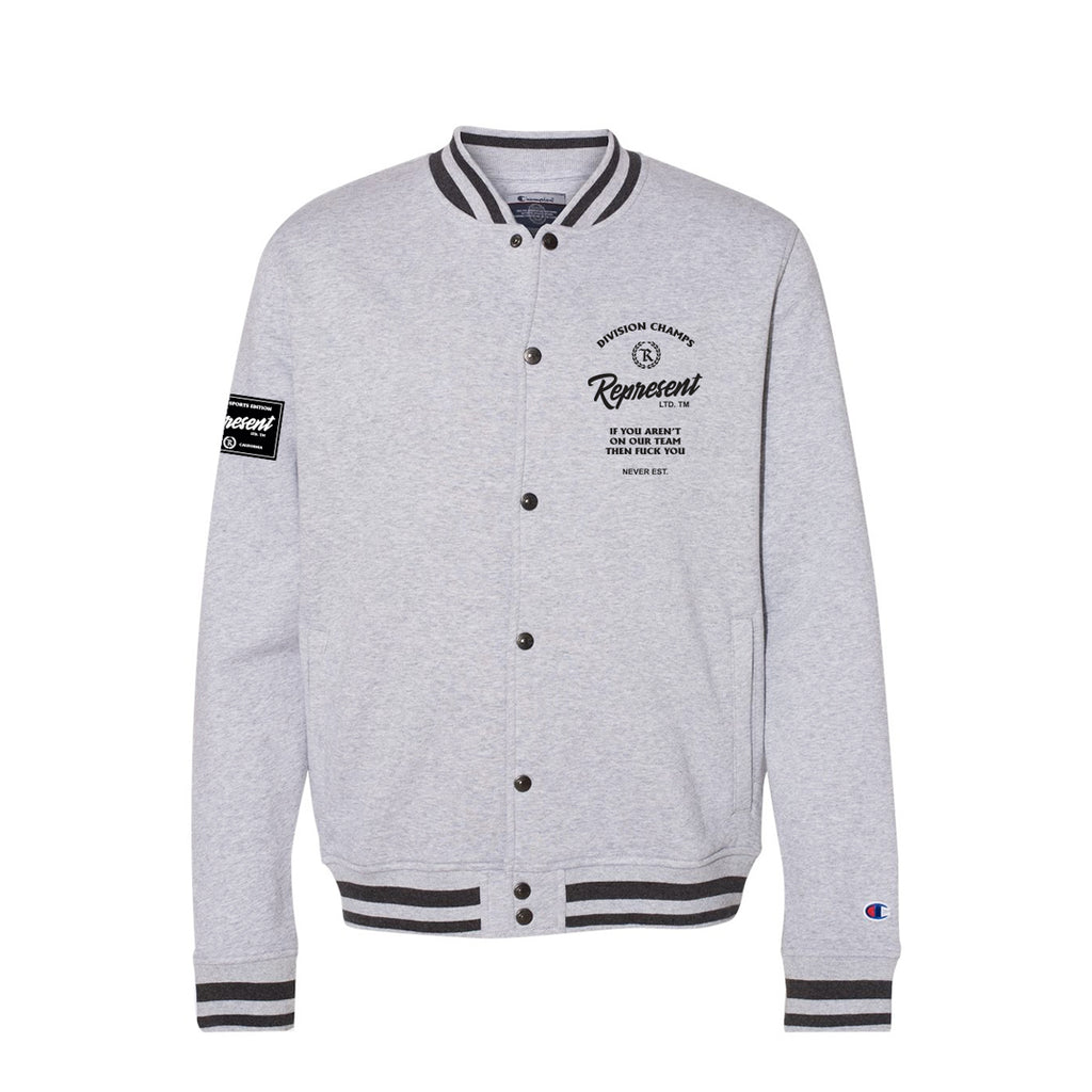 Division Champs Team Letterman Bomber [CHARCOAL X OXFORD]