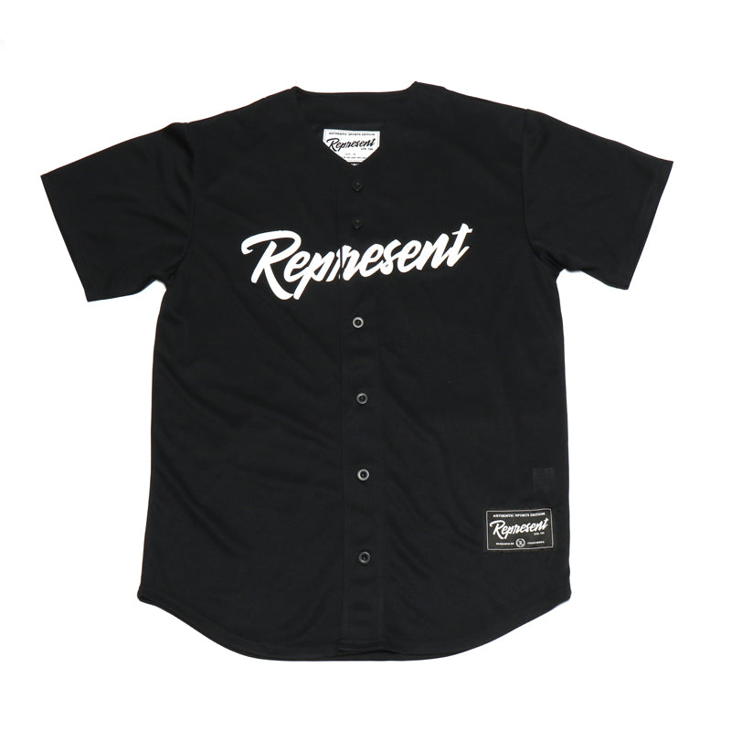 Authentic Fall Classic Baseball Jersey [BLACK]