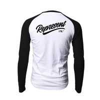 Ltd Script Raglan Long Sleeve [WHITE X BLACK]