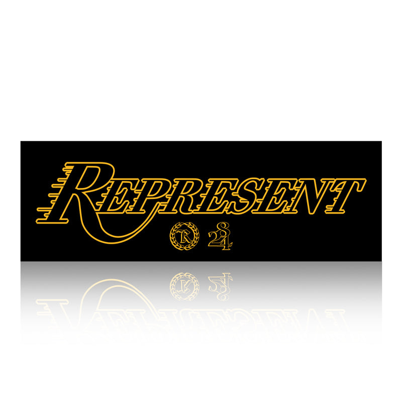 Purple N Gold 2020 Champions 9X3 Bumper Sticker [BLACK X WHITE] 8/24 LIMITED EDITION