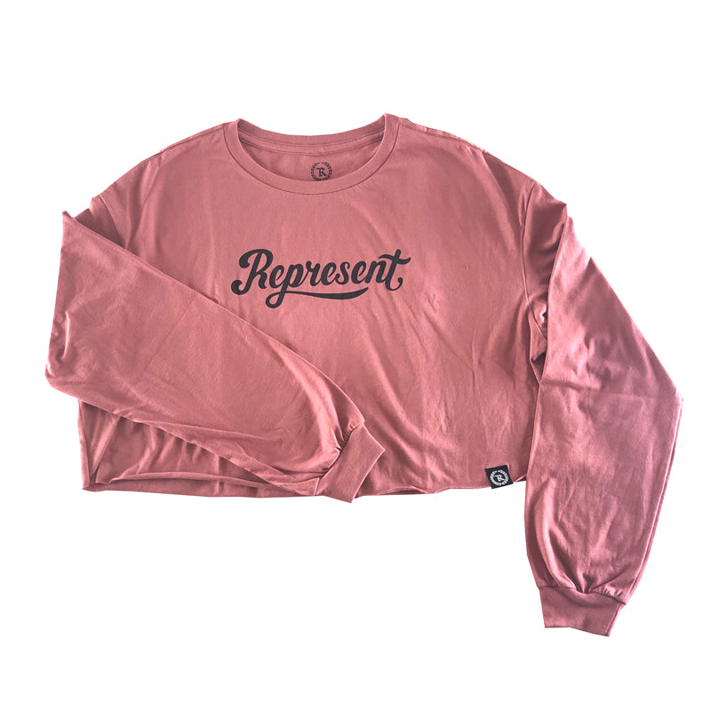 Lively Women's Crop Long Sleeve [PINK MAUVE]