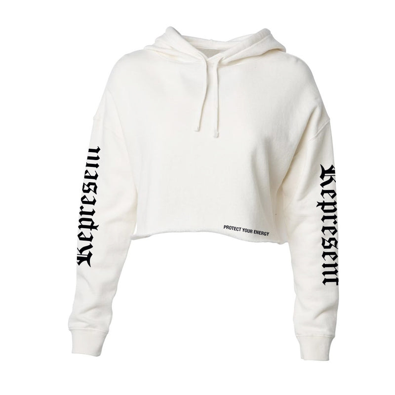 Protect Women's Crop Hoodie [BONE]
