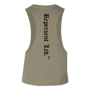 Original Classic Women's Crop Racerback [OLIVE GREEN]