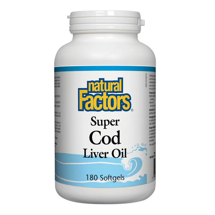 Nautral Factors Super Cod Liver Oil 180softgels