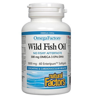 Natural Factors Wild Fish Oil 300 mg-60 softgels