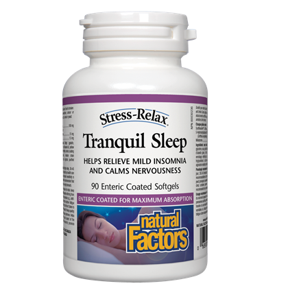 Natural Factors Stress-Relax® Tranquil Sleep 90 softgel