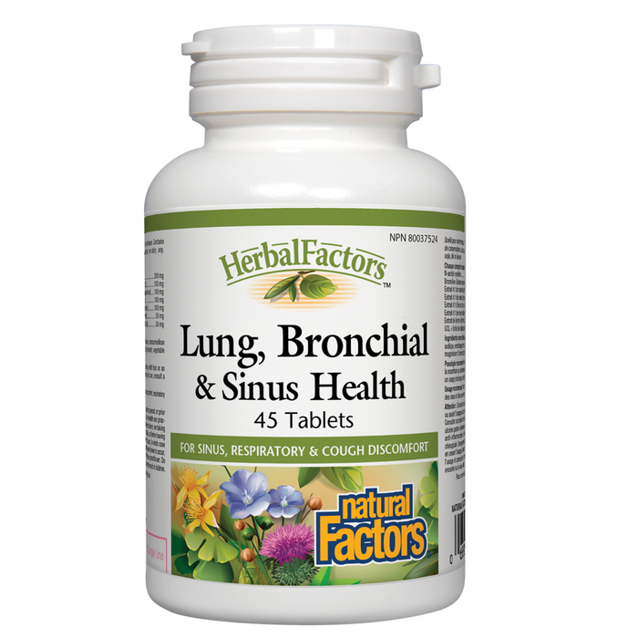 Natural Factors HerbalFactors® Lung, Bronchial & Sinus Health 90 tablets