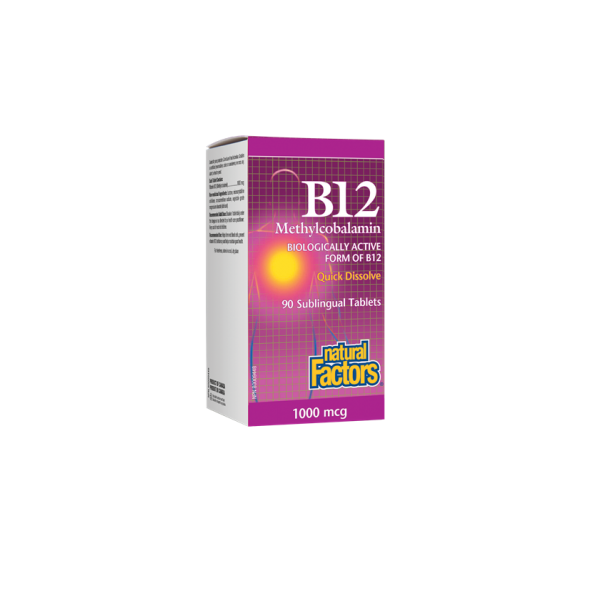 Natural Factors  B12 Methylcobalamine  1000 mcg 210sublinguals cap