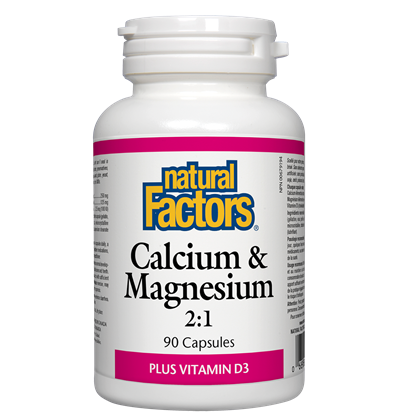 natural Factors Calcium  & Magnesium 2:1   90 cap