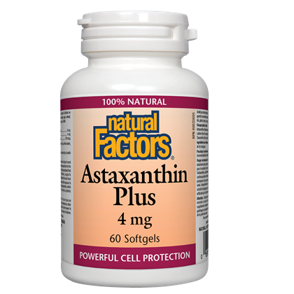 Natural Factors  Astaxanthin Plus 4 mg - 60 softgels
