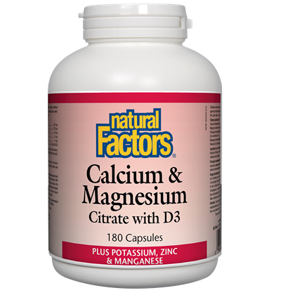 Natural Factors Calcium & Magnesium Citrate + D3 - 180 cap