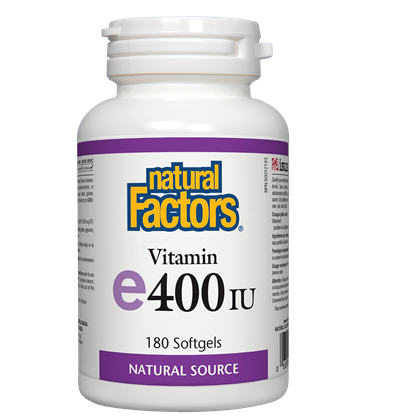 Natural Factors  e400iu 180 softgels