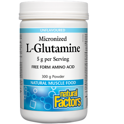 natural Factors Micronized L-Glutamine 5 g - 300 g powder