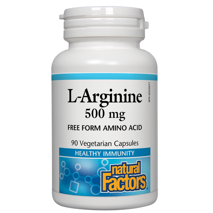 natural Factors L-Arginine 500 mg - 90 cap