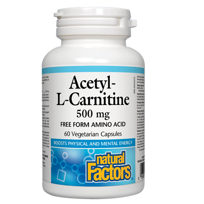 Natural Factors Acetyl-L-Carnitine 500 mg - 60 cap