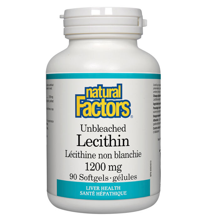 Natural factors unbleached lecithin 1200 mg - 90 softgel