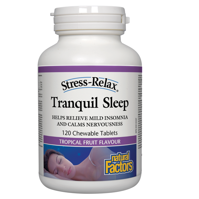 Natural Factors Stress-Relax® Tranquil Sleep 120 chew tablets