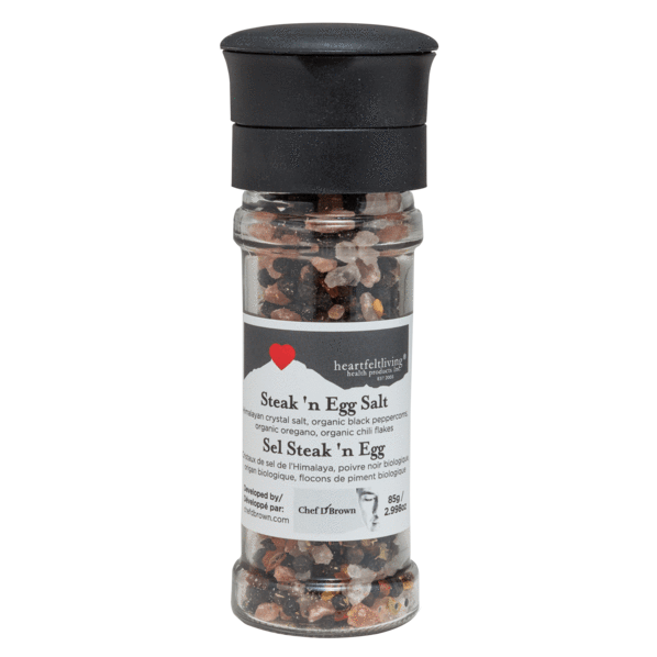 Heartfelt Living Himalayan Steak'n Egg Salt Grinder 85g