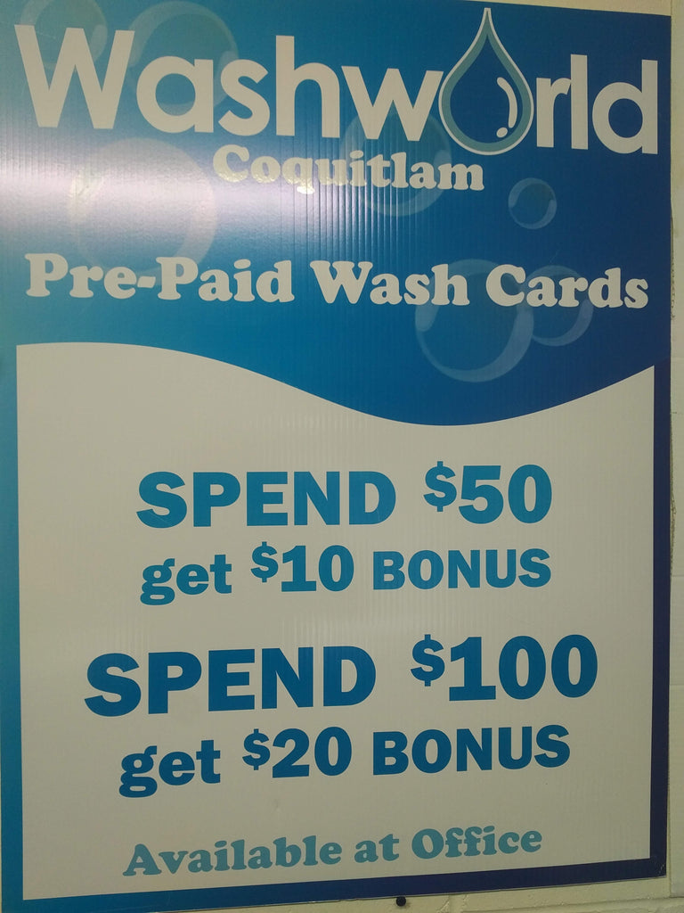 Get your 20% bonus on the Pre-Pay VIP Wash CARDS