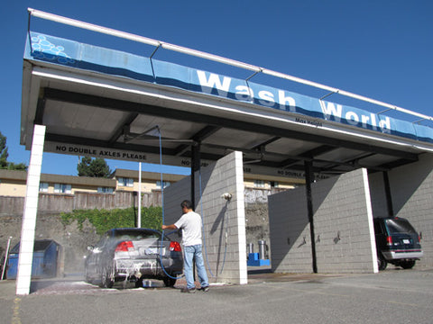 Carwash under the blue sky!