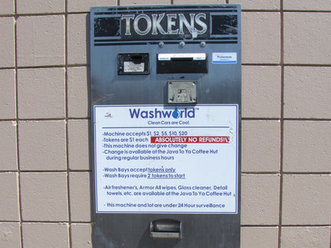Vending machine for tokens