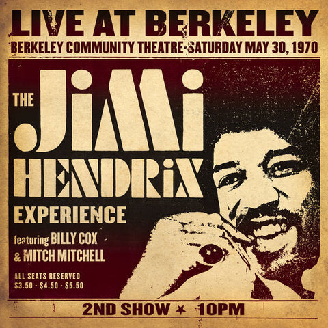 The Jimi Hendrix Experience | Live At Berkeley | Vinyl 2LP