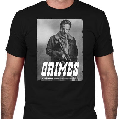 The Walking Dead | Grimes Silver Portrait | T-shirt