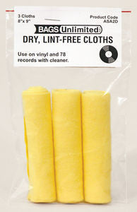 Bags Unlimited | ASA-2D Record Cleaning Cloth (3-pack)