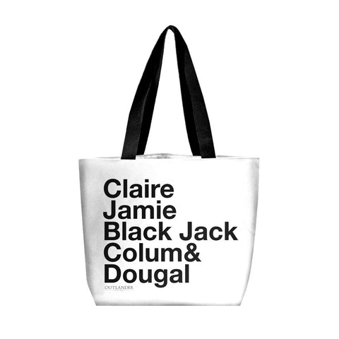 Outlander Characters Tote Bag