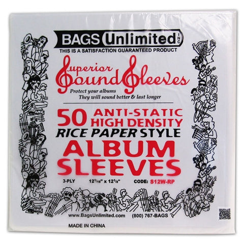Bags Unlimited | S12W-RP 'Rice-Paper' Poly Sleeves (50-pack)