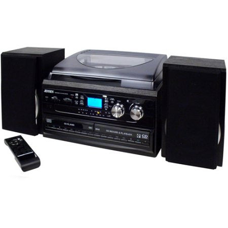 Jensen | JTA-980 3-Speed Turntable (with 2-CD, Cassette, AM/FM Radio)