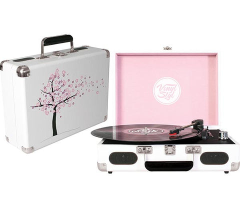 Vinyl Styl | Groove Portable Turntable (Cherry Blossom)