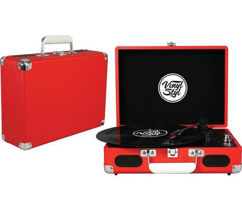 Vinyl Styl | Groove Portable Turntable (Red)