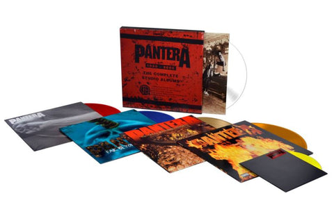 "Pantera | The Complete Studio Albums 1990-2000  | Vinyl 5LP Colored  Box Set w/7""single"